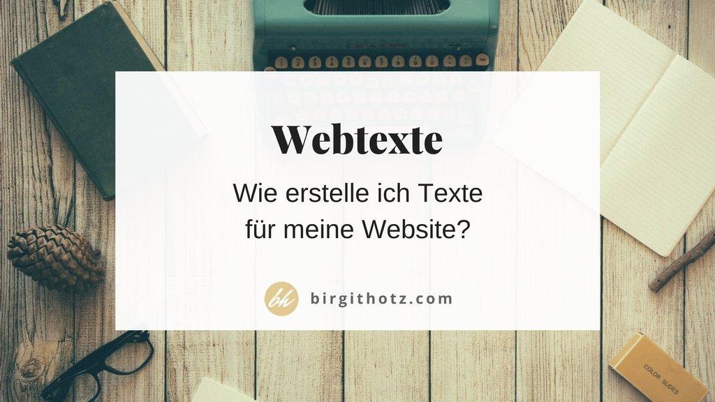 Texte für Deine Website schreiben - Tipps und Tricks - Birgit Hotz