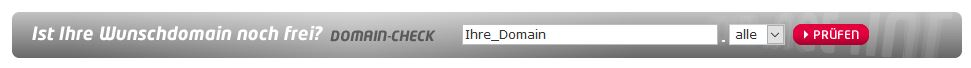 prüfen ob die domain noch frei ist