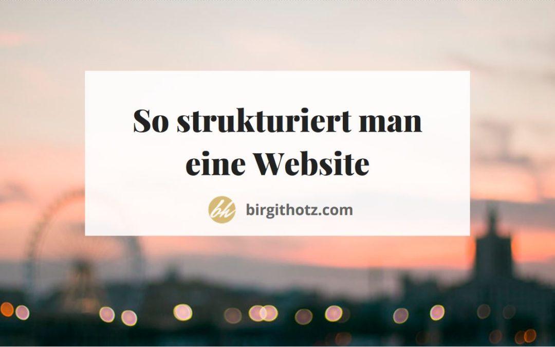 Wie strukturiert man eine Website?