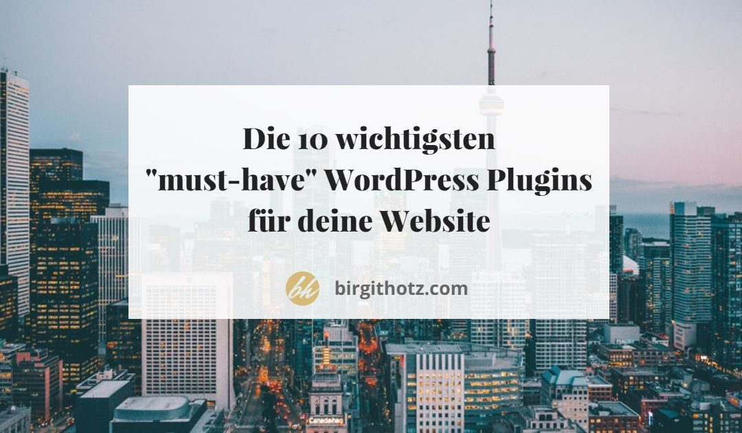WordPress Plugins - die 10 must have Plugins