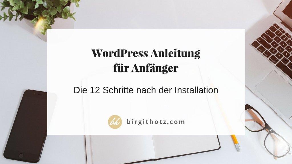 Anleitung WordPress Website erstellen