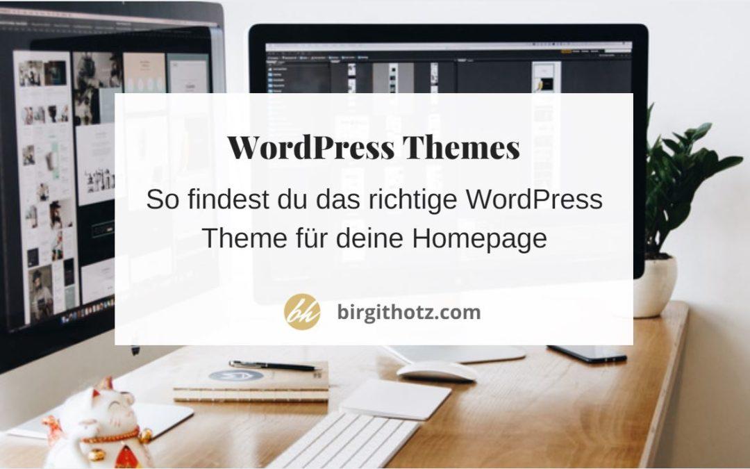 Das richtige WordPress Theme finden