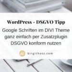 Google Fonts DSGVO konform im Divi Theme nutzen - mit Plugin