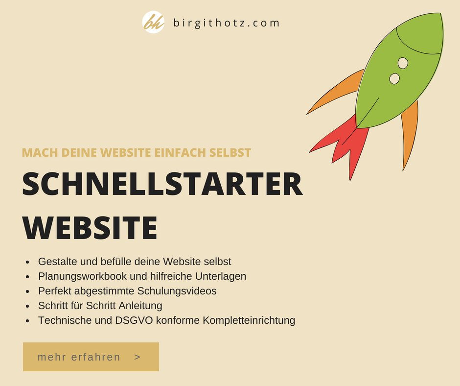 schnellstarter website homepage selbst erstellen