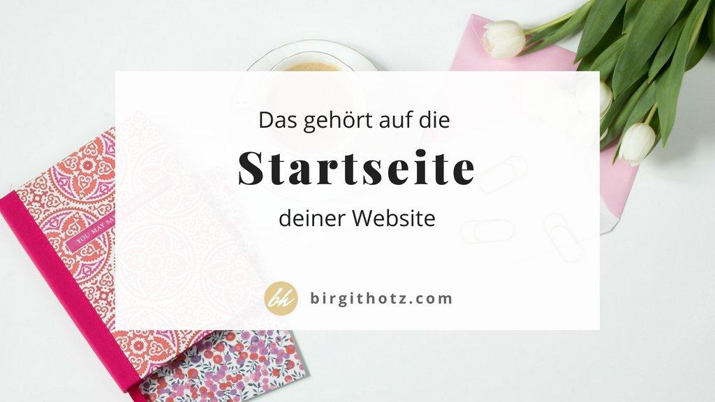 Aufbau Inhalt Startseite Website