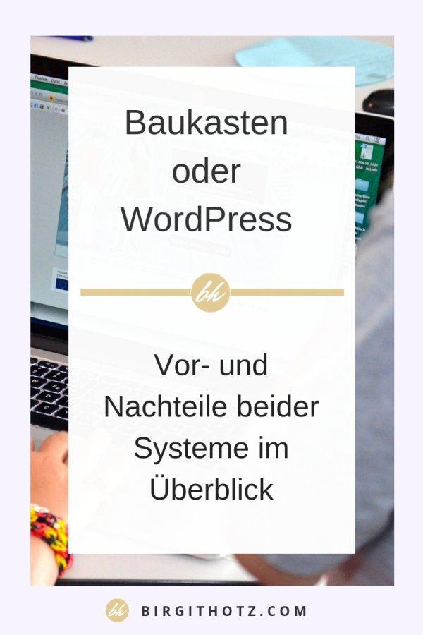 Mit welchem Homepage Anbieter soll ich meine eigene Website erstellen Baukasten oder WordPress