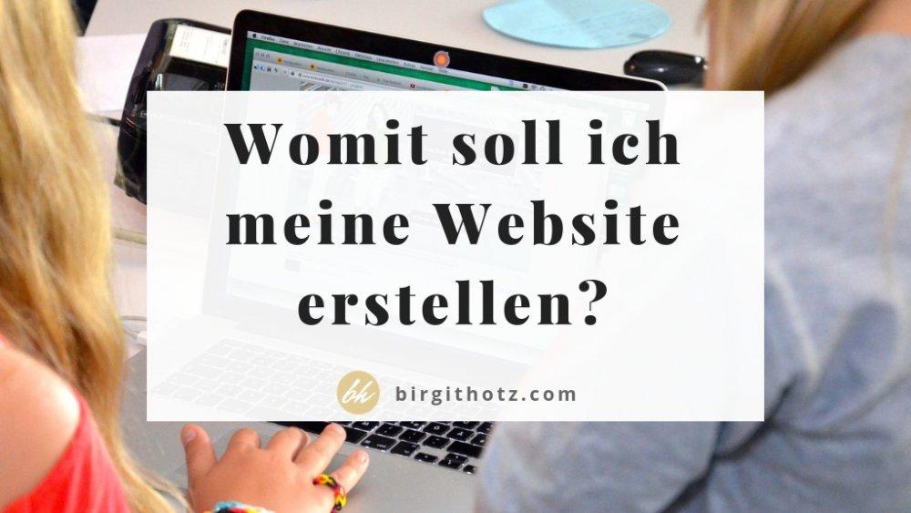 Mit welchem Homepage Anbieter soll ich meine eigene Website erstellen?