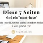 7 Seiten, die jede Business-Website haben sollte