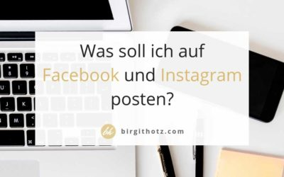 Was pos­ten auf Face­book und Insta­gram? Trends 2019