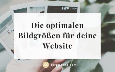 Optimale Bildgrößen für den Einsatz auf Webseiten