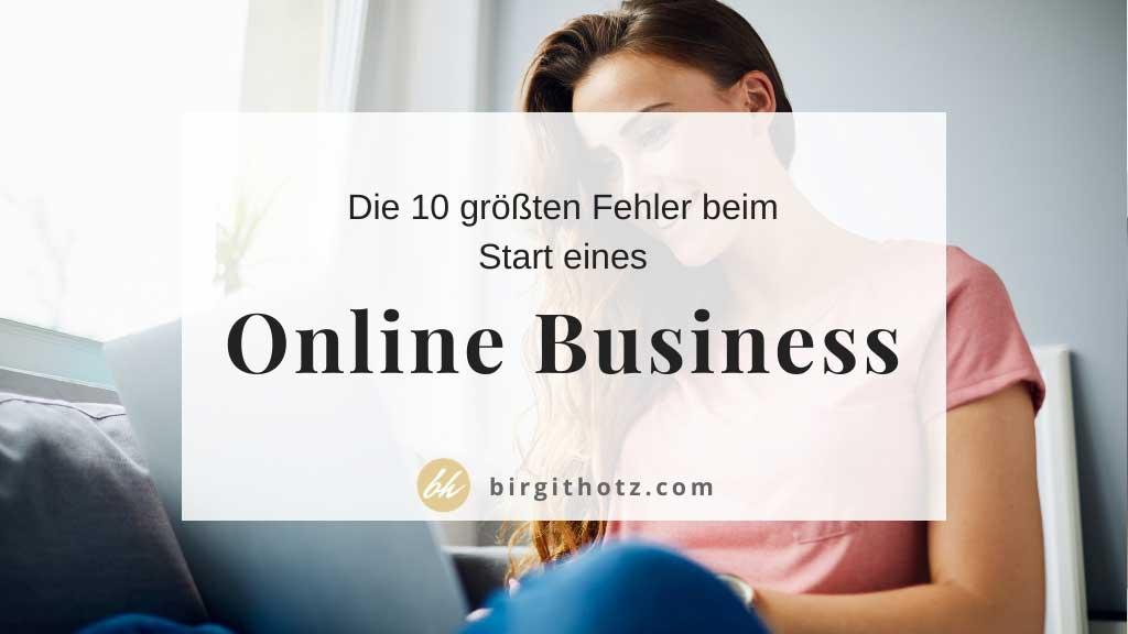 Fehler beim Start eines Onlinebusiness