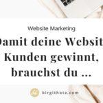 Website Marketing: Damit deine Website Kunden gewinnt, brauchst du ...