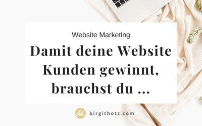 Website Marketing: Damit deine Website Kunden gewinnt, brauchst du …